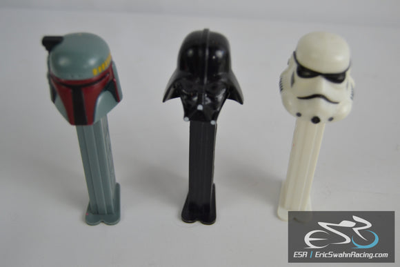 Star Wars Pez Dispensers Lucasfilm Ltd. 1997 Darth Vader, Stormtrooper, Boba Fett