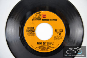 "Gordon Lightfoot - Cherokee Bend, Rainy Day People 45/7"" Vinyl 1975 Reprise"