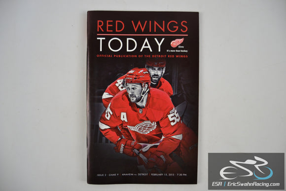 Red Wings Today Program - Anaheim vs. Detroit Issue 2 Game 9 February 15, 2013
