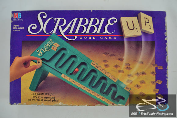 Scrabble Up - Word Game by Milton Bradley 1996 Ages 8 to Adult - 2 Players