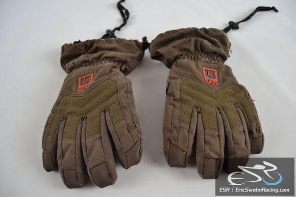 Burton Profile Winter Gloves Mens Medium Brown/Orange *NOTE*
