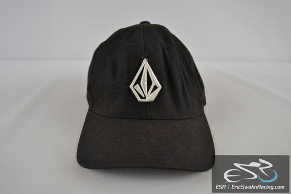 Volcom Stone Black Hat Flexfit L-XL Pre-Owned Comfortable