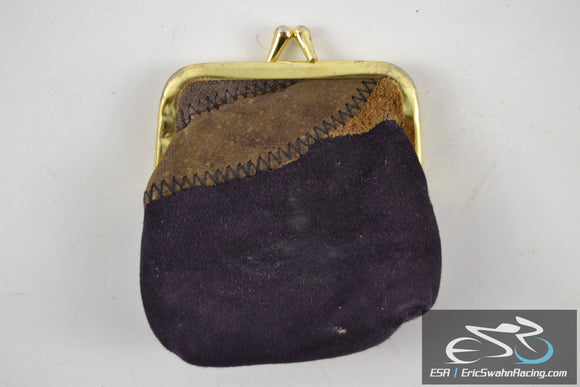 Unisex Coin Purse With Gold Clasp Wallet