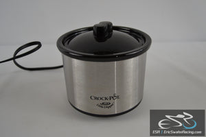 Little Dipper Crock Pot With Lid Cover - Stainless Steel 16 oz