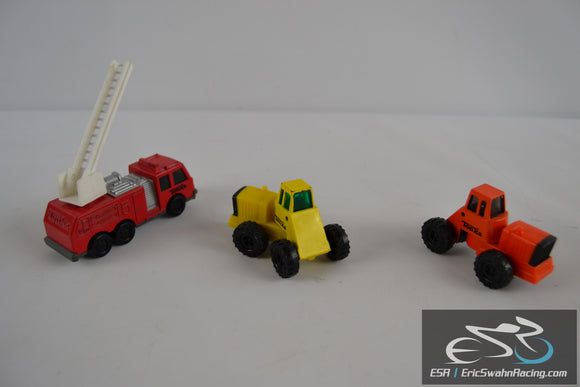 Set of ThreeTonka Trucks Construction / Fire Truck Die Cast Vehicles
