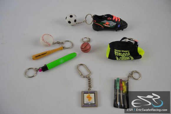 Various Keychain Set Basketball / Football / Soccer / Tools / Baseball