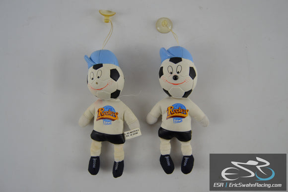 Rockers Detroit Soccer Mascot With Suction Cup Set of Two