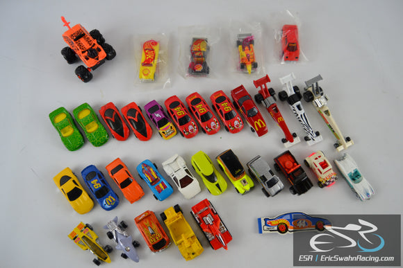 Hot Wheels Mattel Die Cast Vintage Racing Cars / Drag Racing / Trucks Lot of 32