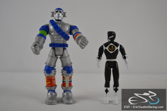 Power Rangers Black/White - Zen Comics Robot Lot of Two Action Figures
