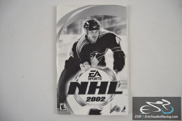 NHL EA Sports 2002 Hockey PC Game Manual with Instal Guide