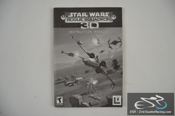 Star Wars: Rogue Squadron 3D Instruction Booklet Manual PC 1998