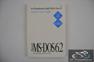 Microsoft MS-DOS 6.2 Operating System Plus Enhanced Tools Manual 1993 Vintage