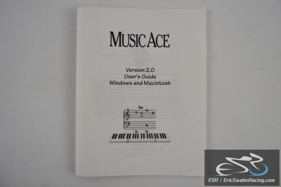 Music Ace Version 2.0 User's Guide Windows and Macintosh Booklet 1999