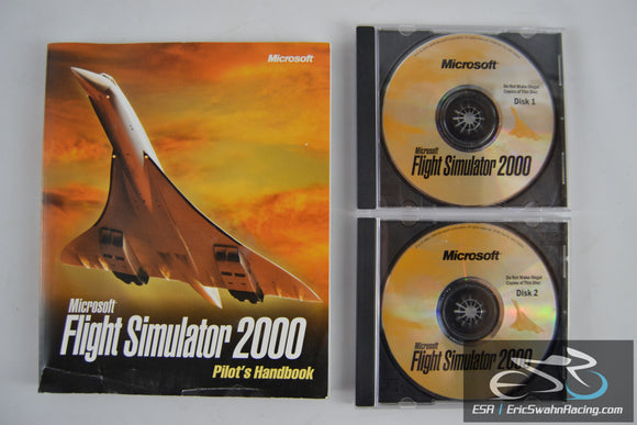 Microsoft Flight Simulator 2000 Pilot's Handbook and Two CD's Game Discs