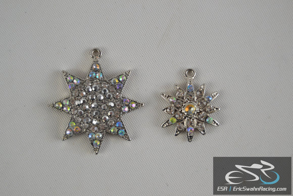 Two Star Pendants for a Necklace - Colorful stones