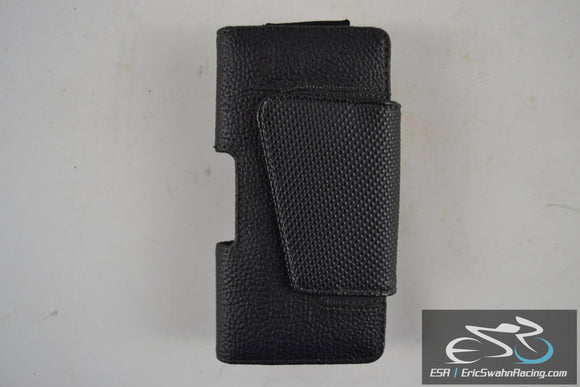 Black Magnetic Phone Case with Clip 5.25