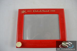 Red Vintage Magic Etch A Sketch Screen, The Ohio Art Company 10 x 8""