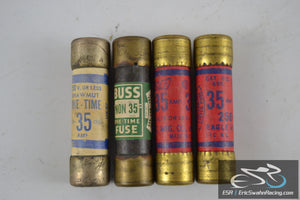 Lot of Four Vintage 35 AMP One-Time Fuse -  Buss Fuses