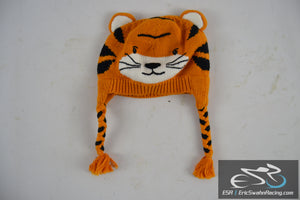 ZubelsCat Cotton Hat with Ears and Braids Orange / White / Black
