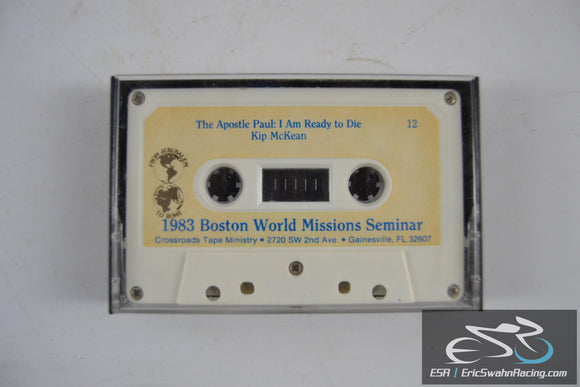 1983 Boston World Missons Seminar Cassette Tape Crossroads Tape Ministry