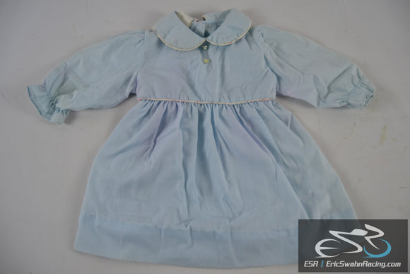Kate Greenaway 3T Blue Dress - Toddler / Baby / Doll Clothing