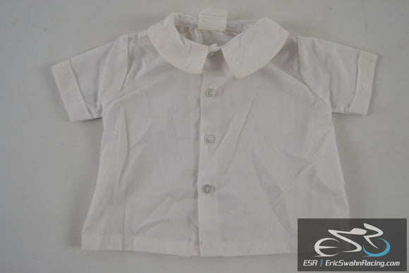 White Button Up Shirt - Toddler / Baby / Doll Clothing