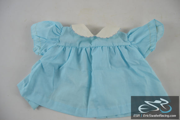 Blue, White Dress Baby Doll Clothing
