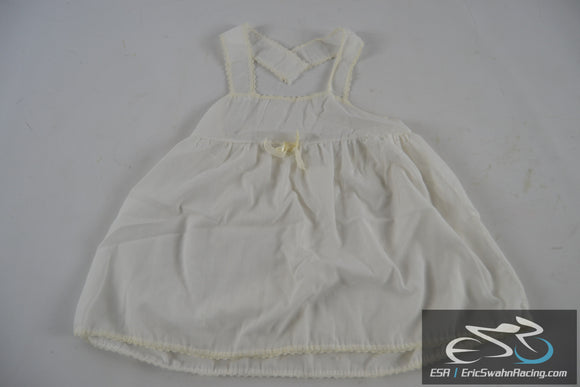White Strapped (Cut) Dress Toddler Baby Doll Clothing