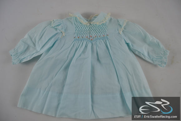 Polly Flinders Blue Dress 24 Months Toddler Baby Doll Clothing