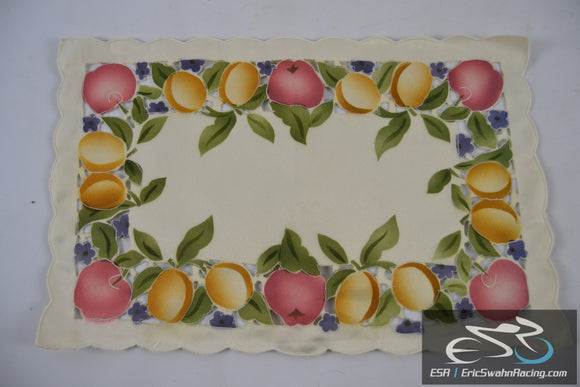 Lot of 4 Cloth Placemats Fruit, Flowers