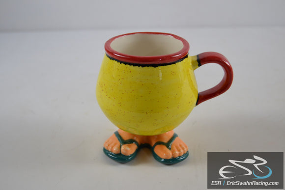 Yellow, Red with Green Sandals Coffee Mug