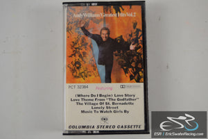 Andy Williams Greatest Hits Vol 2 Cassette Tape CBS Records 1973