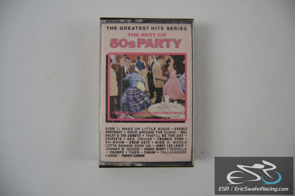 The Best Of 50s Party Music Cassette Tape Priority Records 1987