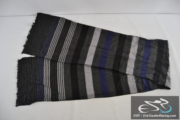 Five Focus Blue, Black, Grey, & White Unisex Viscose Scarf 116666
