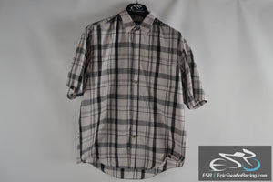 Puritan Collared Button Up Short Sleeve Shirt Checkered Men's Medium