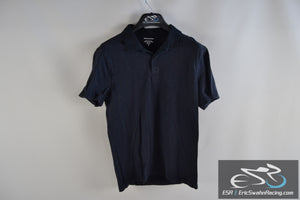 Banana Republic Men's Medium Blue Polo Collared Short Sleeve Shirt