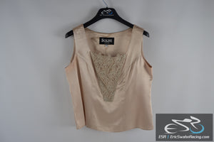 Solini New York Tan / Beige Women's Size 10 Fancy Top Blouse