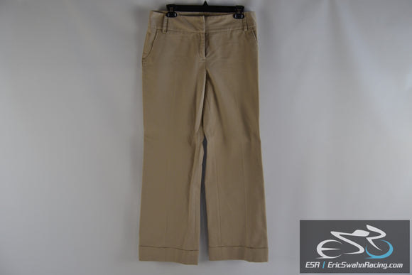 Apt 9 Stretch Maxwell Khaki Women's Size 12 Dress Pants