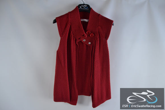 August Silk Red Women's Medium Top Blouse