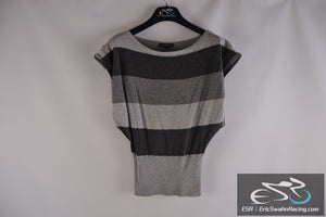Twenty One Grey / Black Women's Small Stretchy Top Blouse