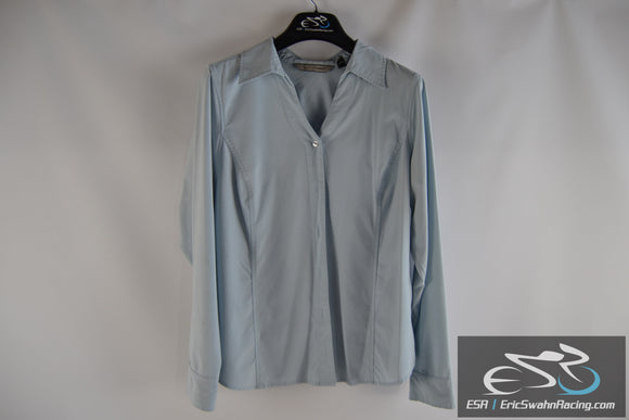 Soft By Avenue Blue Women's 14/16 Collared Button Up Dress Shirt