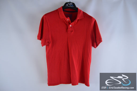 Old Navy The Classic Polo Red Men's Small Short Sleeve Polo Collared Shirt