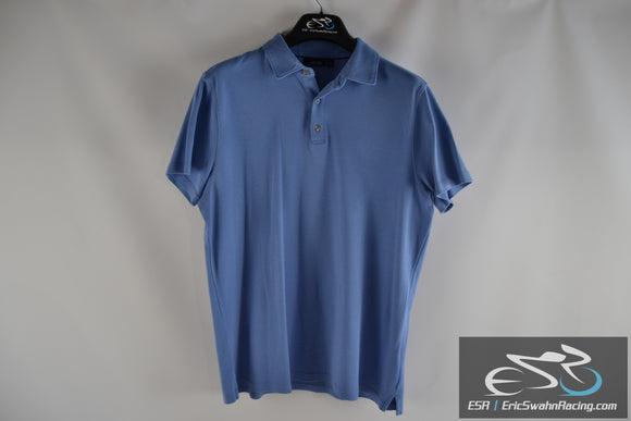 Apt 9 Blue Men's Large Polo Collared Short Sleeve Shirt