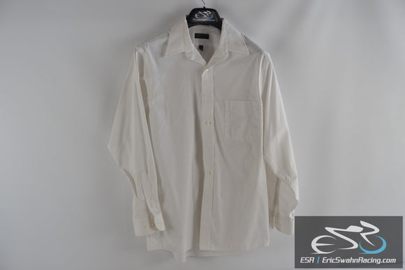 Arrow Fairfield Pinpoint Wrinkle Free 15 32/33 Medium White Men's Dress Shirt