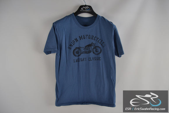 Union Motorcycles Factory Classic Sonoma Blue Men's Medium T-Shirt