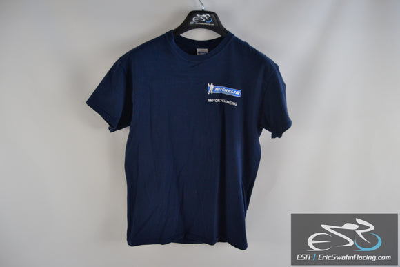 Michelin Motorcycle Racing Gildan Ultra Cotton Blue Men's Medium T-Shirt