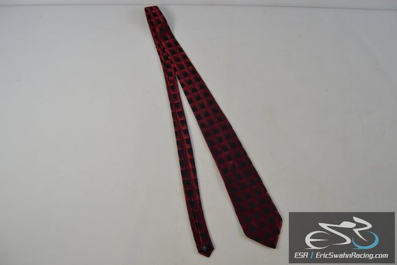Arrow Red / Black Silk Men's Neck Tie