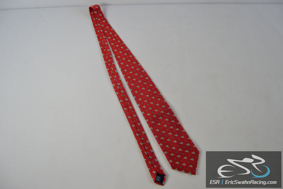 Rooster 100% Silk Red Santa Christmas Men's Neck Tie
