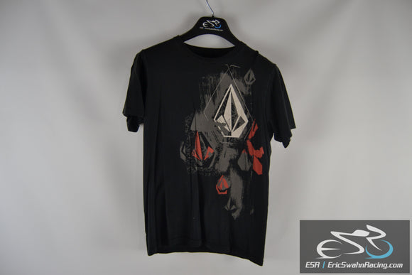 Volcom 100% Organic Cotton Black / Red / Grey Men's Medium T-Shirt