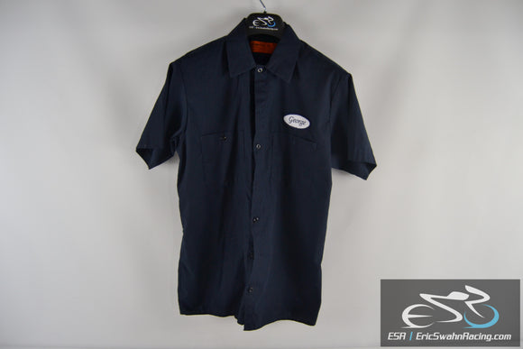 Dickies Blue George Men's Medium Button Up Collared Shirt